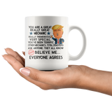 FUNNY TRUMP MUG FOR MECHANIC 11 OZ WHITE COFFEE MUG