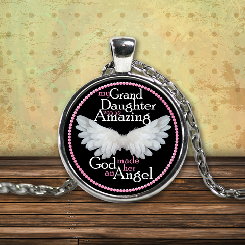 My Grand Daughter Amazing Angel Necklace