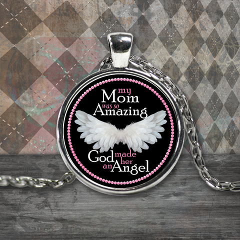 My Mom Amazing Angel Neclace
