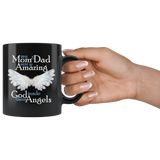 Mom and Dad Angel Memorial Coffee Mug