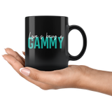 Love is being a Gammy 11 oz Black Coffee Mug - Gift for Gammie