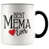 Best Mema Ever 11 oz Accent Coffee Mug