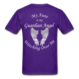 Aunt Guardian Angel Gildan Ultra Cotton Adult T-Shirt (CK1352U) - purple