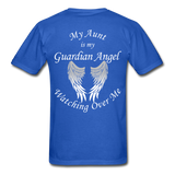 Aunt Guardian Angel Gildan Ultra Cotton Adult T-Shirt (CK1352U) - royal blue