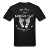 Aunt Guardian Angel Gildan Ultra Cotton Adult T-Shirt (CK1352U) - black