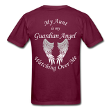 Aunt Guardian Angel Gildan Ultra Cotton Adult T-Shirt (CK1352U) - burgundy