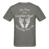 Aunt Guardian Angel Gildan Ultra Cotton Adult T-Shirt (CK1352U) - charcoal