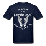 Aunt Guardian Angel Gildan Ultra Cotton Adult T-Shirt (CK1352U) - navy