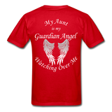Aunt Guardian Angel Gildan Ultra Cotton Adult T-Shirt (CK1352U) - red
