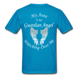 Aunt Guardian Angel Gildan Ultra Cotton Adult T-Shirt (CK1352U) - turquoise