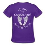 Aunt Guardian Angel Gildan Ultra Cotton Ladies T-Shirt (CK1352) - purple