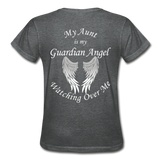 Aunt Guardian Angel Gildan Ultra Cotton Ladies T-Shirt (CK1352) - deep heather