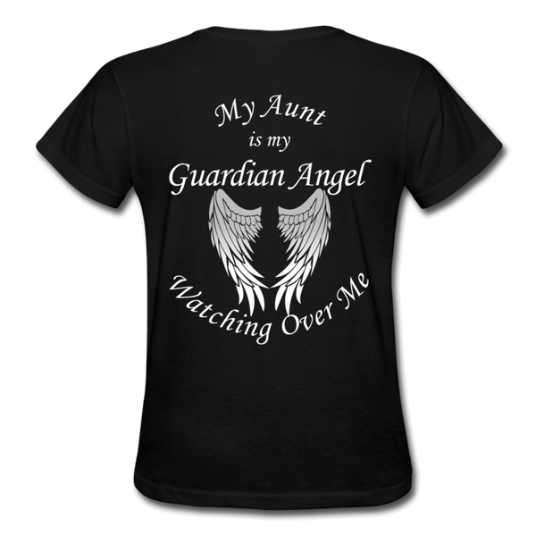 Aunt Guardian Angel Gildan Ultra Cotton Ladies T-Shirt (CK1352) - black