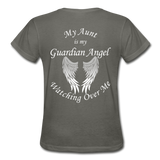 Aunt Guardian Angel Gildan Ultra Cotton Ladies T-Shirt (CK1352) - charcoal