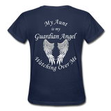 Aunt Guardian Angel Gildan Ultra Cotton Ladies T-Shirt (CK1352) - navy