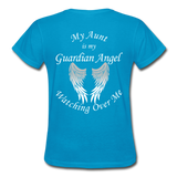 Aunt Guardian Angel Gildan Ultra Cotton Ladies T-Shirt (CK1352) - turquoise