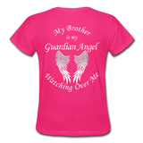 Brother Guardian Angel Gildan Ultra Cotton Ladies T-Shirt (CK1355) - fuchsia