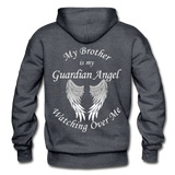 Brother Guardian Angel Pullover Hoodie (CK1354) - charcoal gray