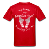 Brother Guardian Angel Gildan Ultra Cotton Adult T-Shirt (1355) - red