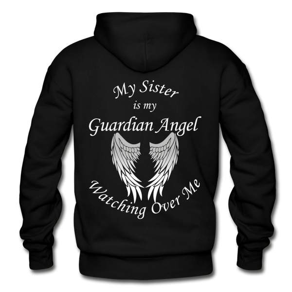 Sister Guardian Angel Gildan Heavy Blend Adult Hoodie - black