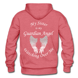 Sister Guardian Angel Gildan Heavy Blend Adult Hoodie - heather red