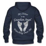 Sister Guardian Angel Gildan Heavy Blend Adult Hoodie - navy