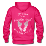 Sister Guardian Angel Gildan Heavy Blend Adult Hoodie - fuchsia