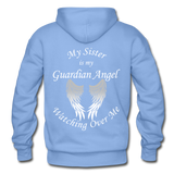 Sister Guardian Angel Gildan Heavy Blend Adult Hoodie - carolina blue