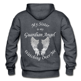 Sister Guardian Angel Gildan Heavy Blend Adult Hoodie - charcoal gray
