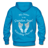Sister Guardian Angel Gildan Heavy Blend Adult Hoodie - turquoise