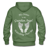 Sister Guardian Angel Gildan Heavy Blend Adult Hoodie - military green