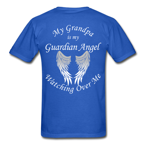 Grandpa Guardian Angel Gildan Ultra Cotton Adult T-Shirt (CK1370) - royal blue