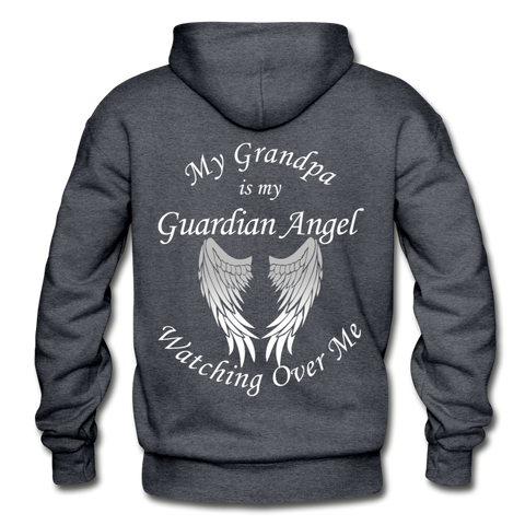 Grandpa Guardian Angel Gildan Heavy Blend Adult Hoodie (Ck1371) - charcoal gray