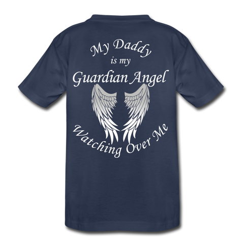 Daddy Guardian Angel Kids' Premium T-Shirt (CK1380) - navy