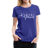 #Nurselife Women's Premium T-Shirt (CK1396) - royal blue