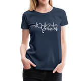 #Nurselife Women's Premium T-Shirt (CK1396) - navy