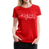 #Nurselife Women's Premium T-Shirt (CK1396) - red