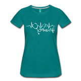 #Nurselife Women's Premium T-Shirt (CK1396) - teal