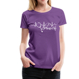 #Nurselife Women's Premium T-Shirt (CK1396) - purple
