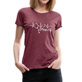 #Nurselife Women's Premium T-Shirt (CK1396) - heather burgundy