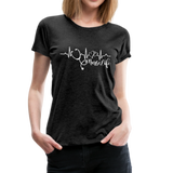 #Nurselife Women's Premium T-Shirt (CK1396) - charcoal gray