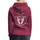 Dad Guardian Angel Women's Premium Hoodie (CK1401-W) - burgundy