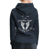 Dad Guardian Angel Women's Premium Hoodie (CK1401-W) - navy