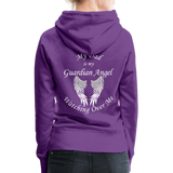 Dad Guardian Angel Women's Premium Hoodie (CK1401-W) - purple