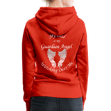 Dad Guardian Angel Women's Premium Hoodie (CK1401-W) - red