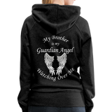 Brother Guardian Angel Women's Premium Hoodie (CK1404W) - charcoal gray