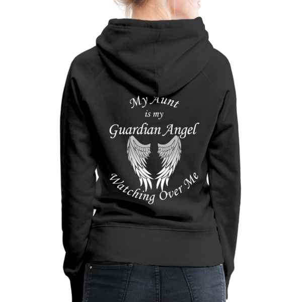Aunt Guardian Angel Women's Premium Hoodie (CK1403W) - black