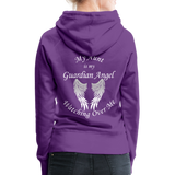 Aunt Guardian Angel Women's Premium Hoodie (CK1403W) - purple