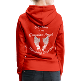 Aunt Guardian Angel Women's Premium Hoodie (CK1403W) - red