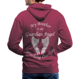 Brother Guardian Angel Men's Premium Hoodie (CK1404M) - burgundy
